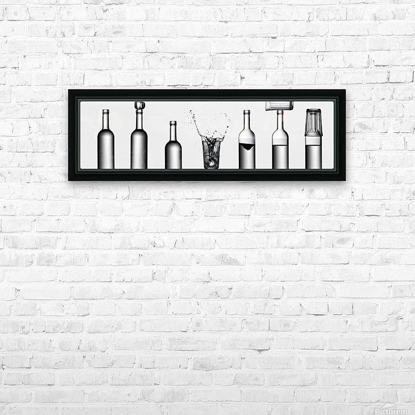 bottles game by Valeriy Kasmasov  HD Sublimation Metal print with Decorating Float Frame (BOX)