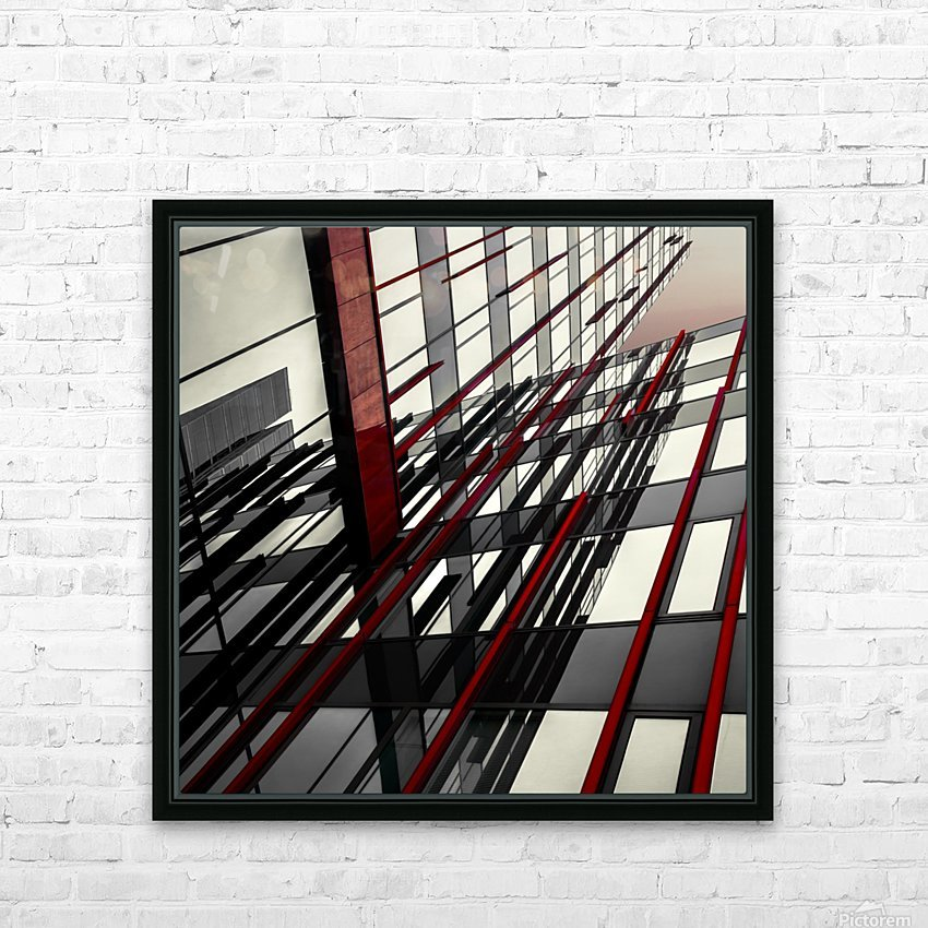 red lines by Gilbert Claes  HD Sublimation Metal print with Decorating Float Frame (BOX)