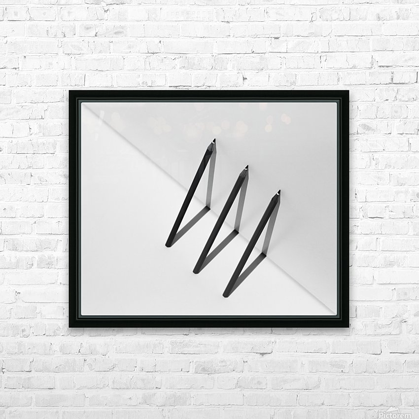 Triangles by Jacqueline Hammer  HD Sublimation Metal print with Decorating Float Frame (BOX)