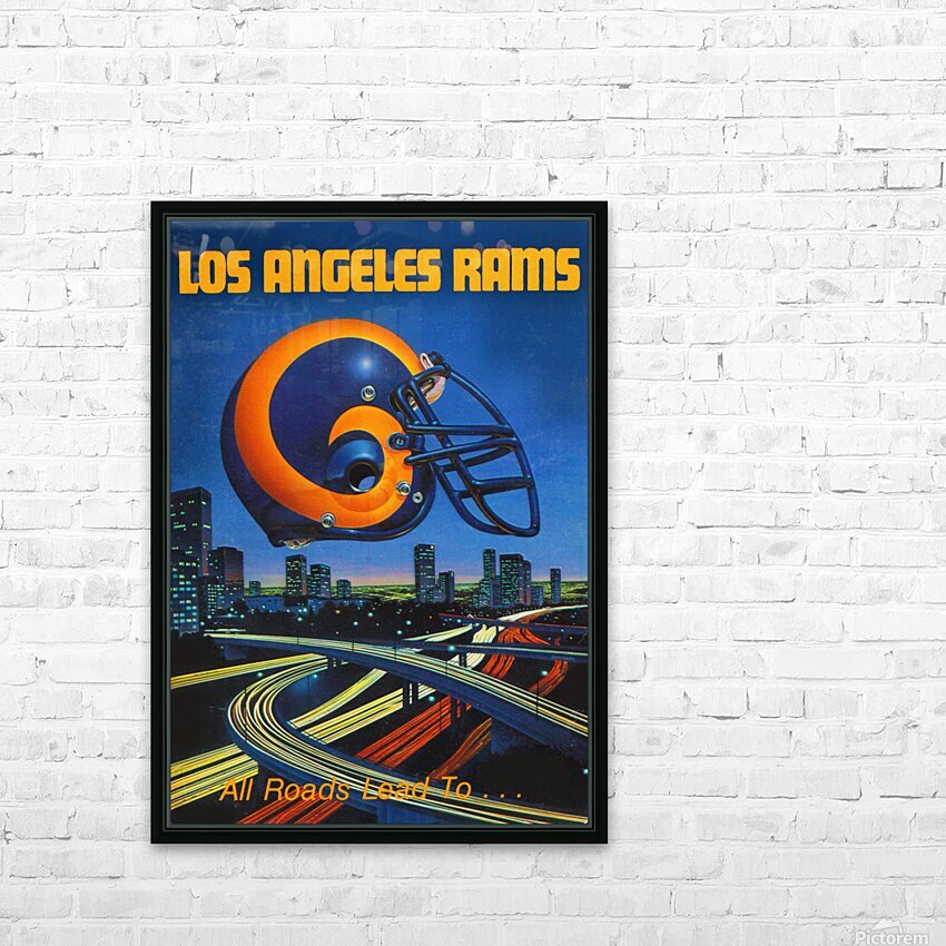 1983 Los Angeles Rams Football Poster HD Sublimation Metal print with Decorating Float Frame (BOX)