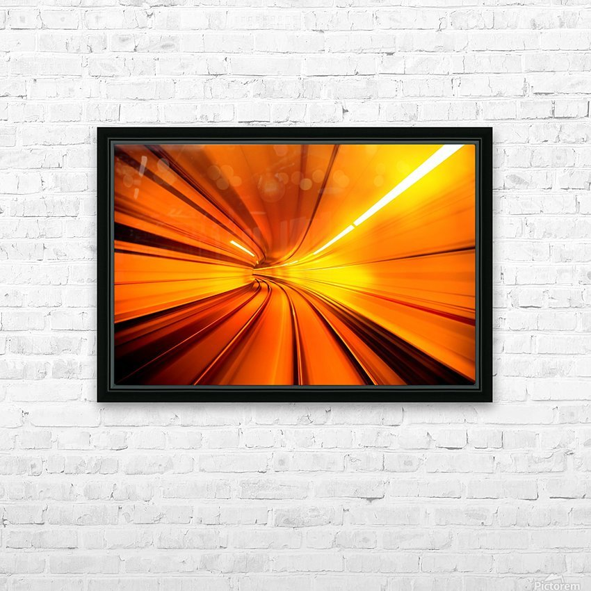 Wormhole HD Sublimation Metal print with Decorating Float Frame (BOX)