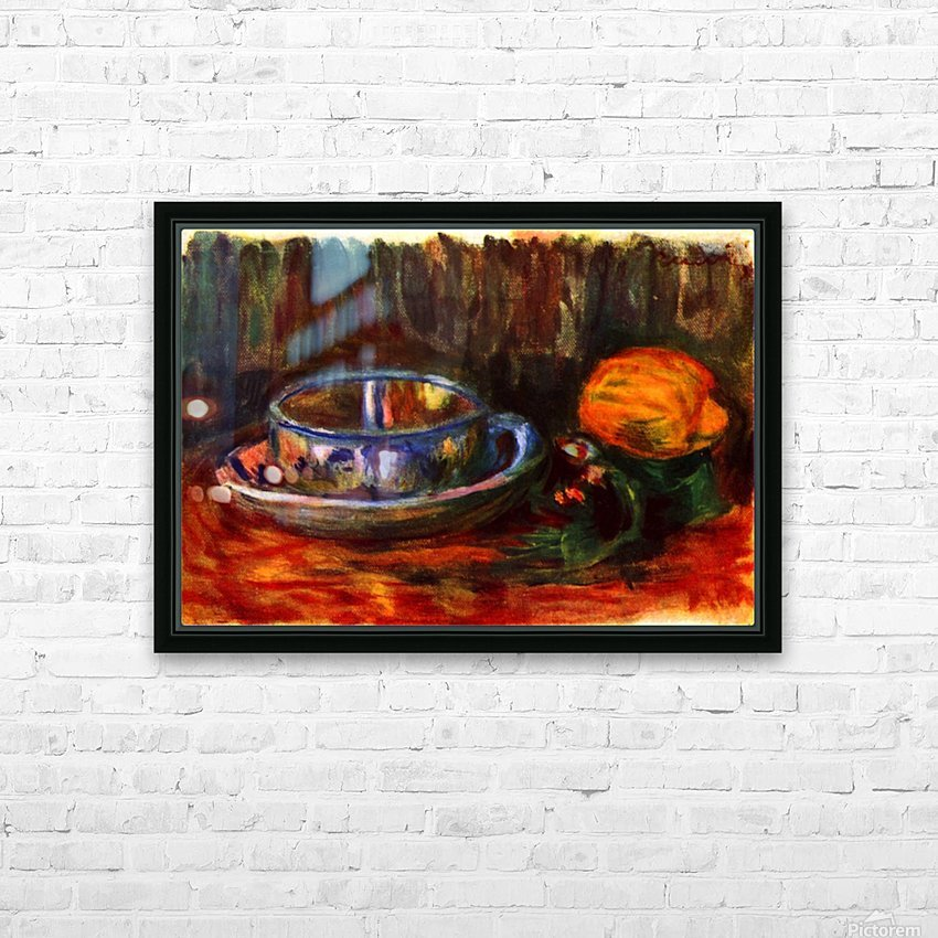 Still life with cup HD Sublimation Metal print with Decorating Float Frame (BOX)