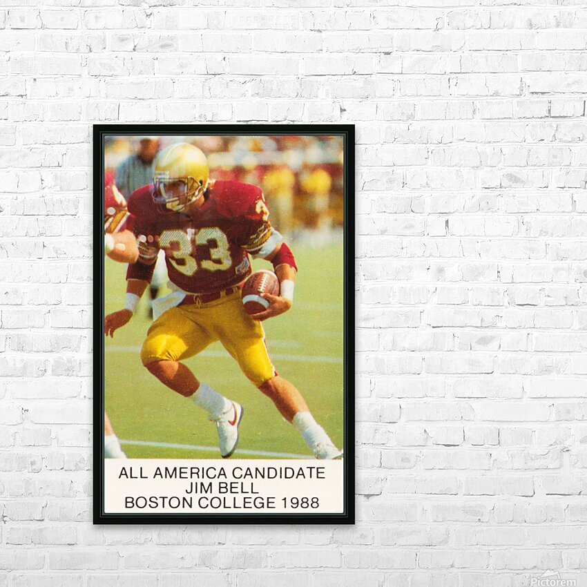 1988 Boston College Football Poster HD Sublimation Metal print with Decorating Float Frame (BOX)