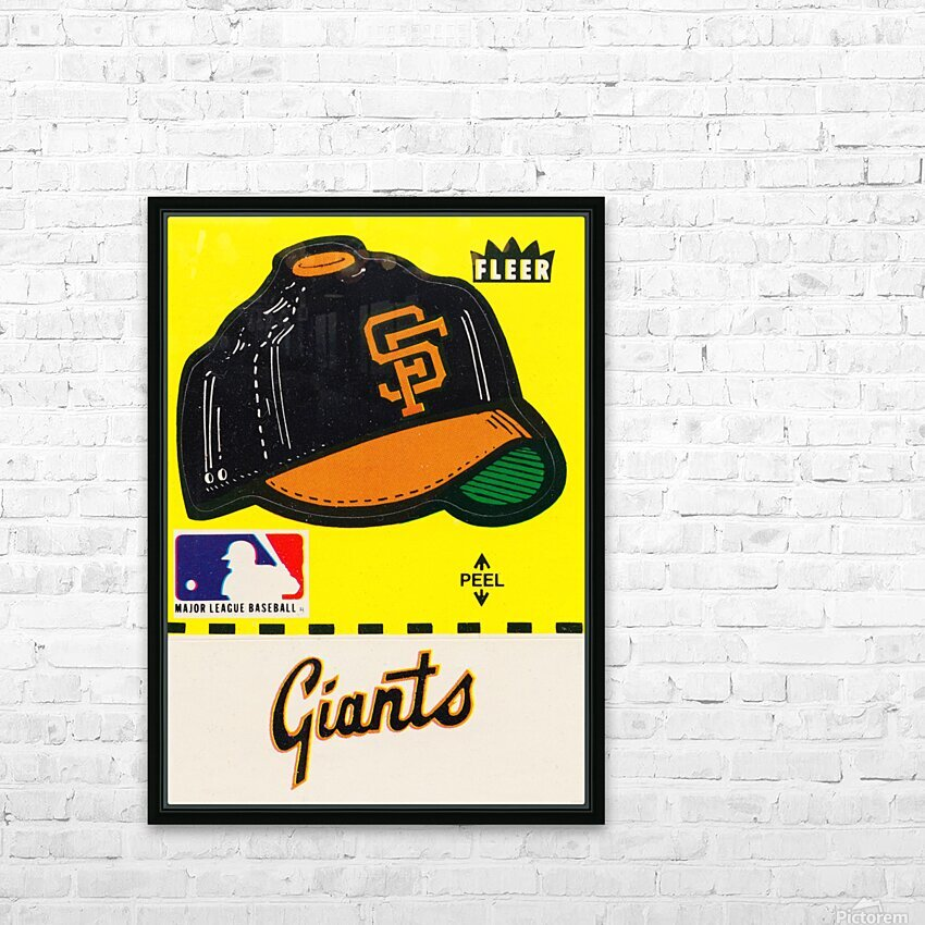 1981 San Francisco Giants Fleer Decal Poster HD Sublimation Metal print with Decorating Float Frame (BOX)