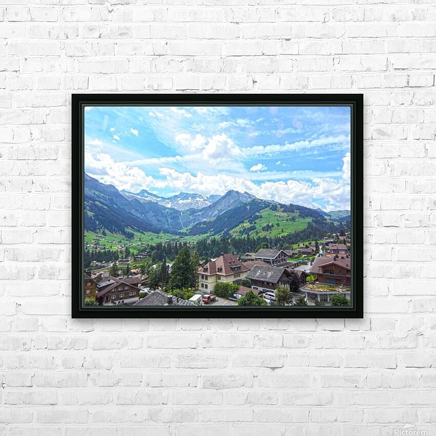 Beautiful Day in the Swiss Alps HD Sublimation Metal print with Decorating Float Frame (BOX)