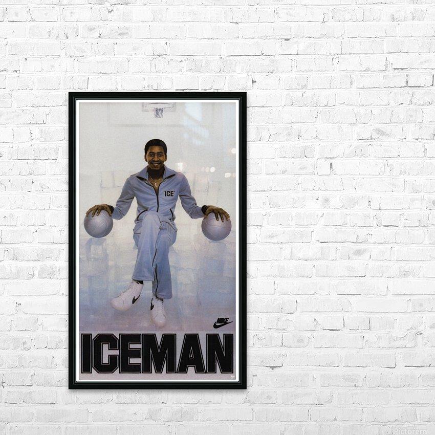 1982 George Gervin Nike Iceman Poster HD Sublimation Metal print with Decorating Float Frame (BOX)