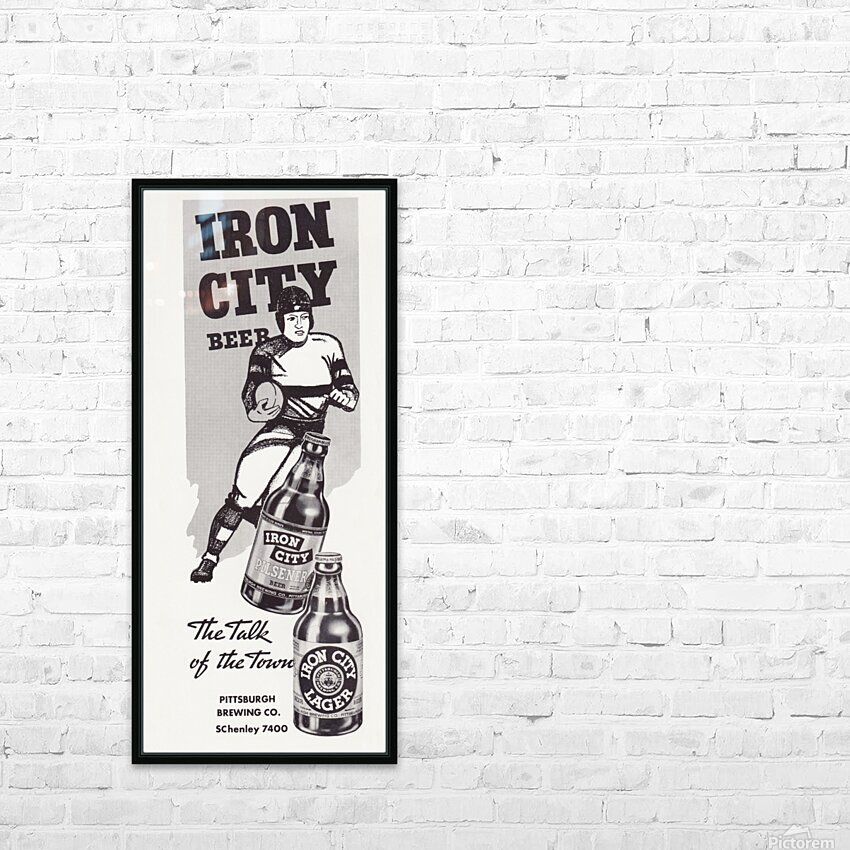 1937 Iron City Beer Vintage Football Ad HD Sublimation Metal print with Decorating Float Frame (BOX)