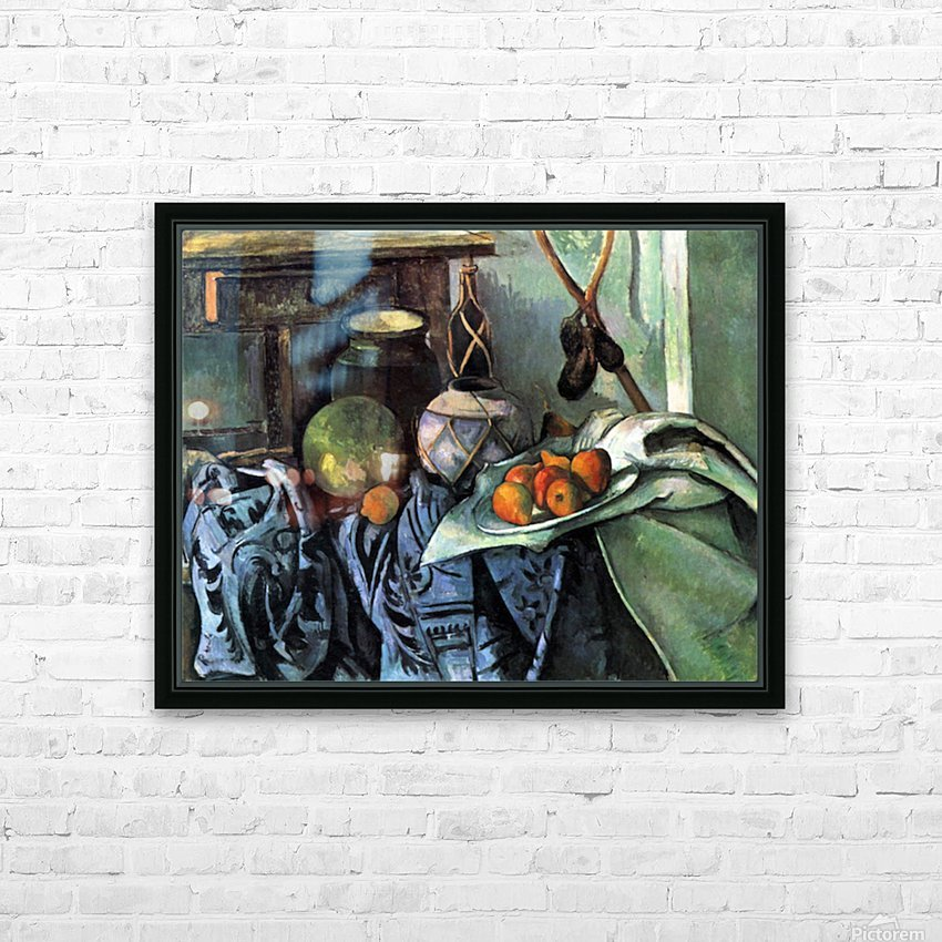 Still life with Eggplant by Cezanne HD Sublimation Metal print with Decorating Float Frame (BOX)