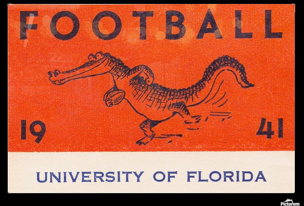 1941 Florida Gators Football HD Sublimation Metal print with Decorating Float Frame (BOX)