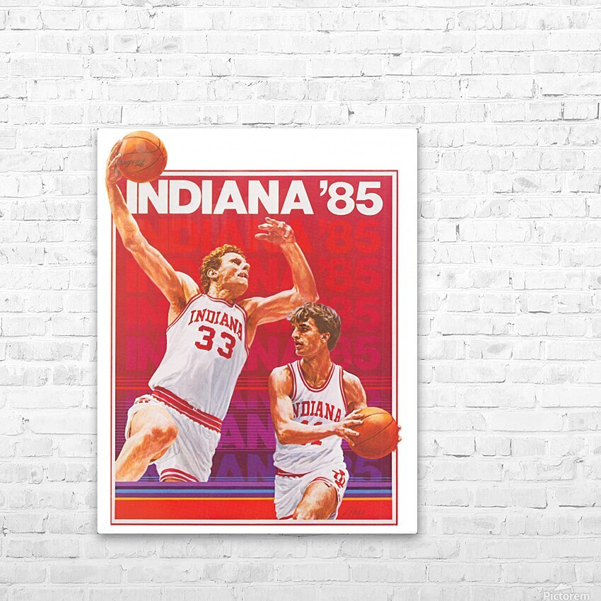 1985 Indiana Hoosiers Basketball Art HD Sublimation Metal print with Decorating Float Frame (BOX)