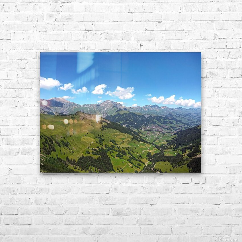 Swiss Highlands View to Forever HD Sublimation Metal print with Decorating Float Frame (BOX)