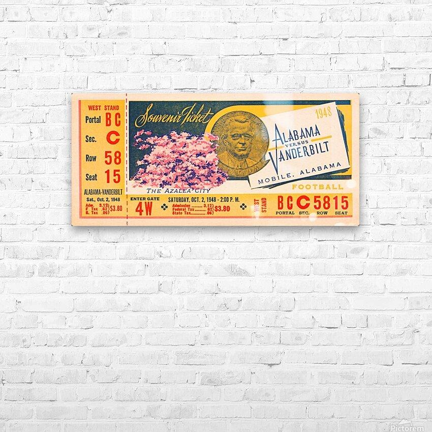 1948 Vanderbilt vs. Alabama Ticket Art HD Sublimation Metal print with Decorating Float Frame (BOX)