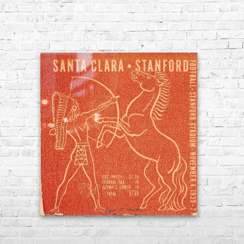 1939 Santa Clara vs. Stanford HD Sublimation Metal print with Decorating Float Frame (BOX)