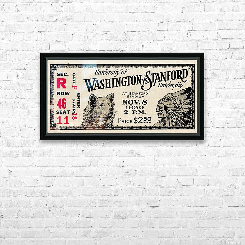 1930 Washington vs. Stanford Ticket Stub Art HD Sublimation Metal print with Decorating Float Frame (BOX)