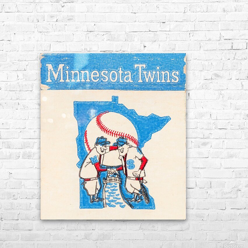 1967 Minnesota Twins Art HD Sublimation Metal print with Decorating Float Frame (BOX)