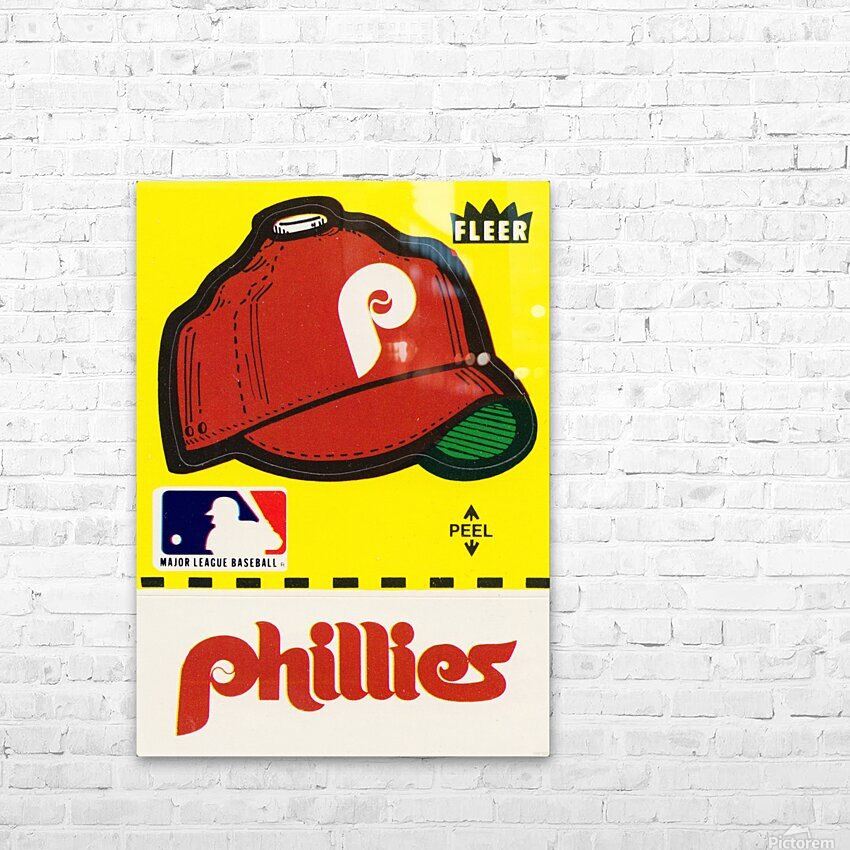 1981 Phillies Fleer Decal Wall Art HD Sublimation Metal print with Decorating Float Frame (BOX)