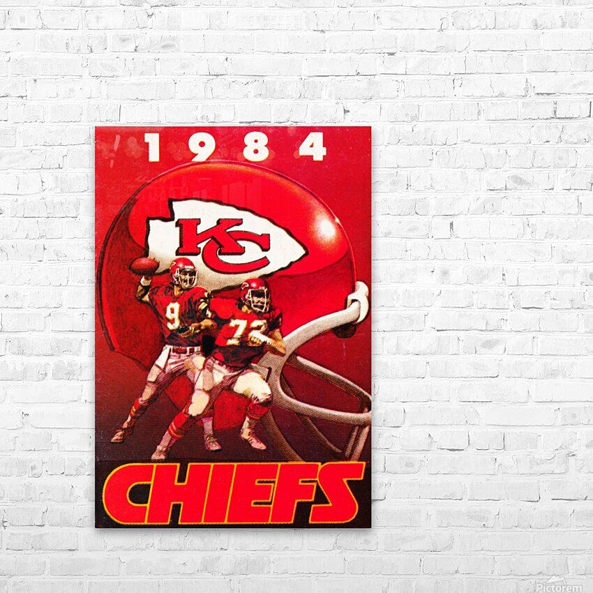 1984 Kansas City Chiefs Football Poster HD Sublimation Metal print with Decorating Float Frame (BOX)