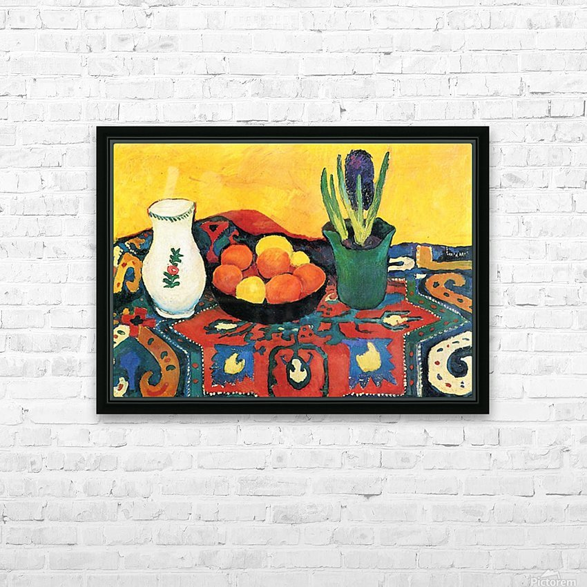 Still Life with Hyacinthe by Macke HD sublimation métal imprimé avec décoration flotteur cadre (boîte)