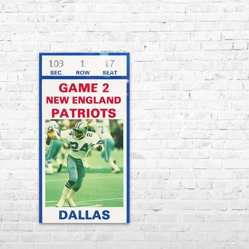 1982 Dallas Cowboys Ticket Stub Wall Art HD Sublimation Metal print with Decorating Float Frame (BOX)
