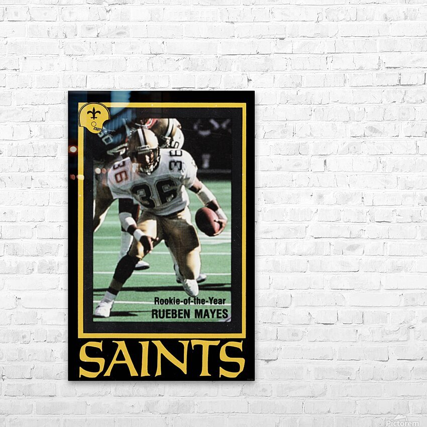 1988 New Orleans Saints Reuben Mayes Poster HD Sublimation Metal print with Decorating Float Frame (BOX)