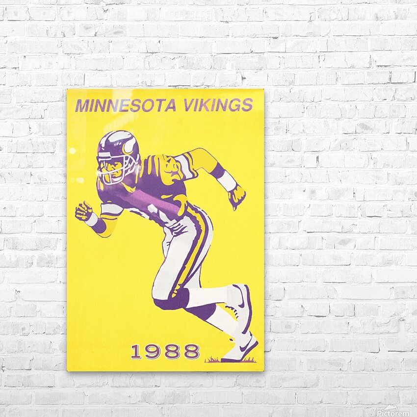 1988 Minnesota Vikings Football Poster HD Sublimation Metal print with Decorating Float Frame (BOX)