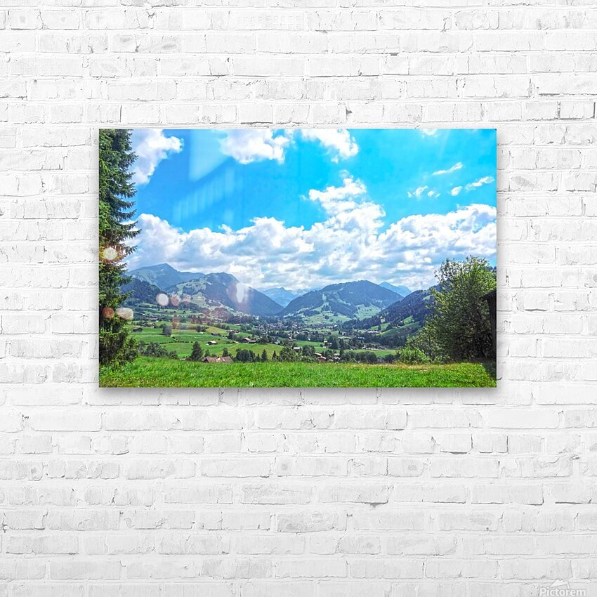 The Last Paradise in a Crazy World Gstaad Switzerland HD Sublimation Metal print with Decorating Float Frame (BOX)
