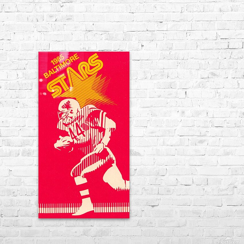 1985 Baltimore Stars USFL Football Art HD Sublimation Metal print with Decorating Float Frame (BOX)