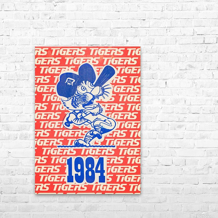 1984 Detroit Tigers Baseball Poster HD Sublimation Metal print with Decorating Float Frame (BOX)