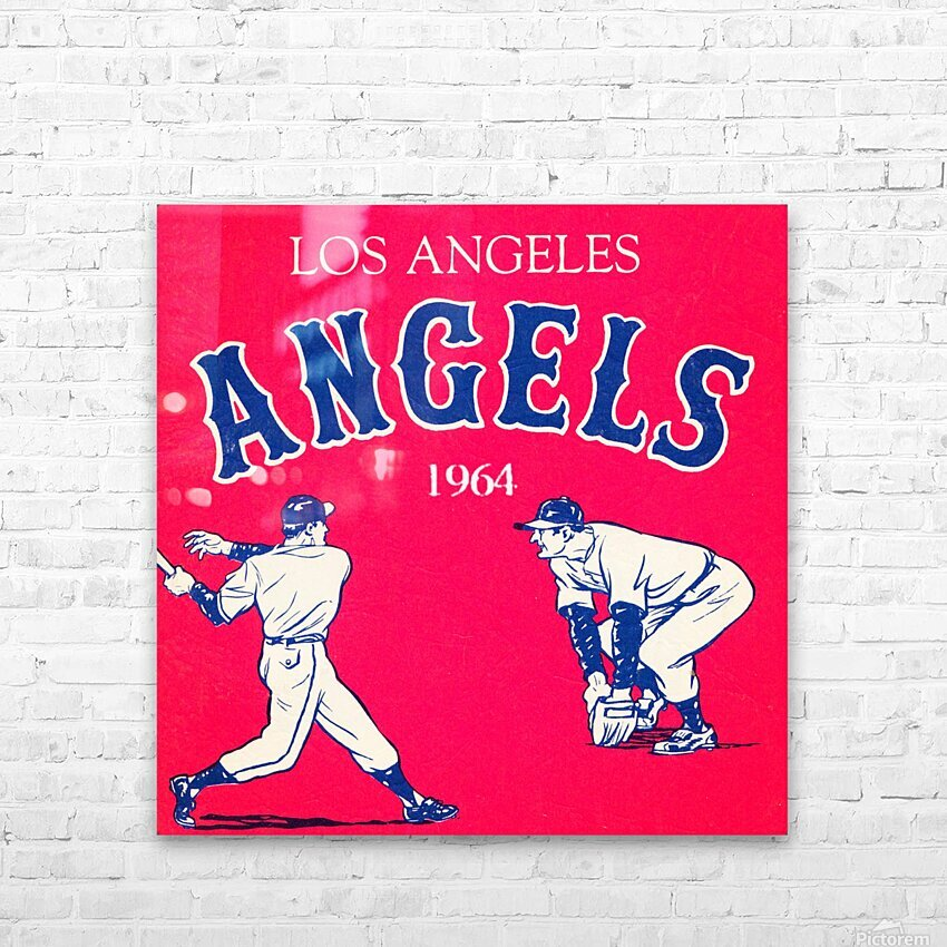 1964 Los Angeles Angels Baseball Art HD Sublimation Metal print with Decorating Float Frame (BOX)