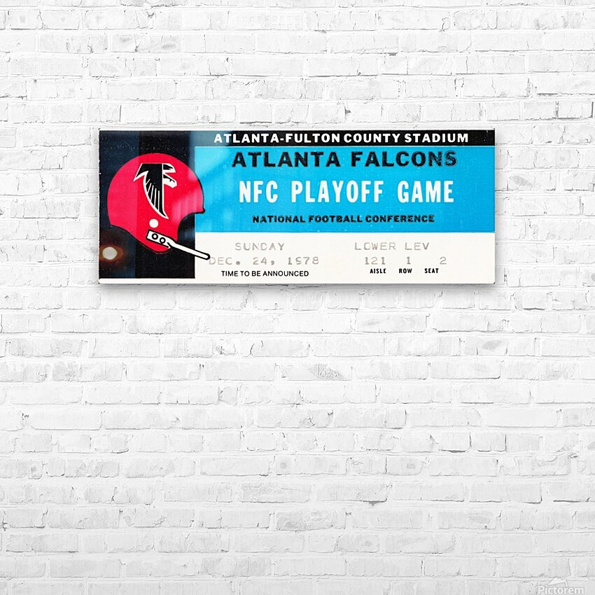 1978 Atlanta Falcons Ticket Stub Art HD Sublimation Metal print with Decorating Float Frame (BOX)