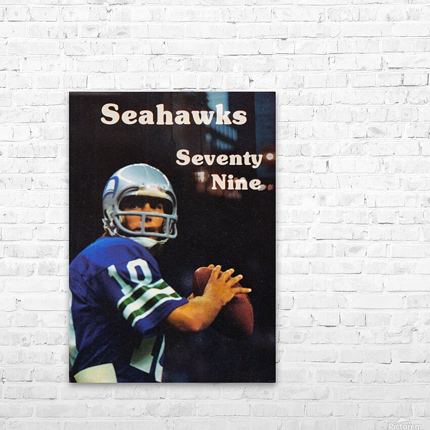 1979 Seattle Seahawks Jim Zorn Poster HD Sublimation Metal print with Decorating Float Frame (BOX)