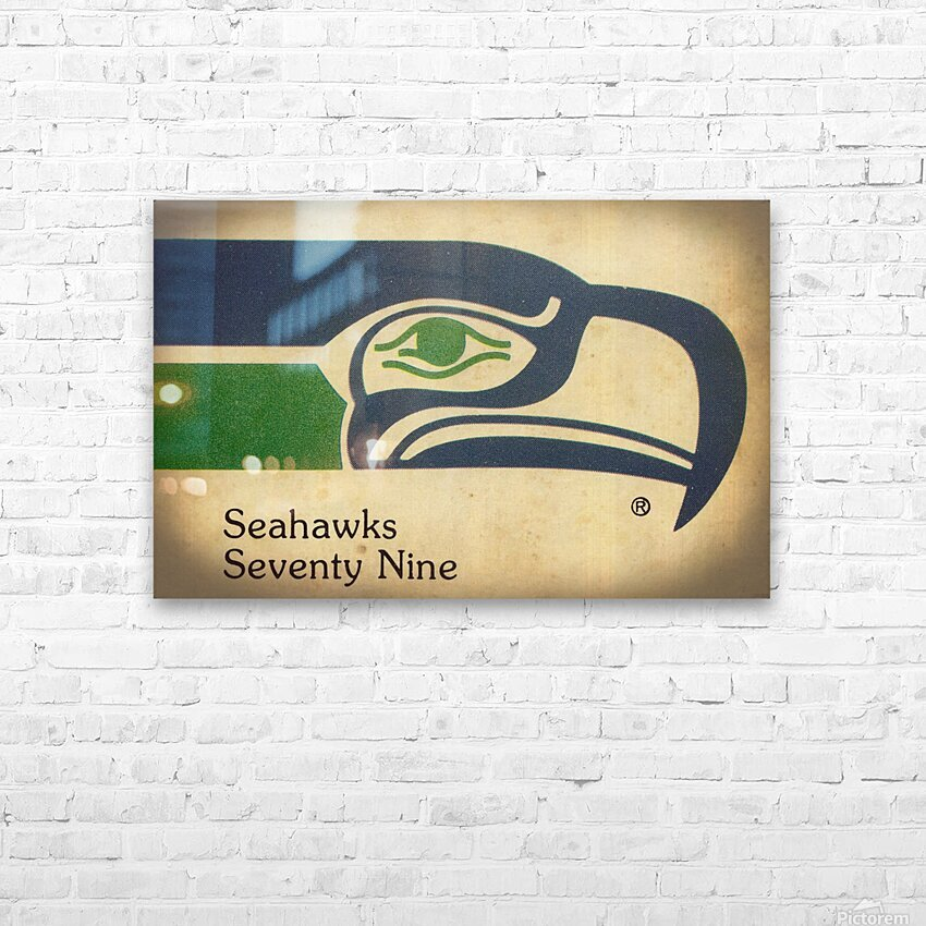 1979 Seattle Seahawks Art HD Sublimation Metal print with Decorating Float Frame (BOX)