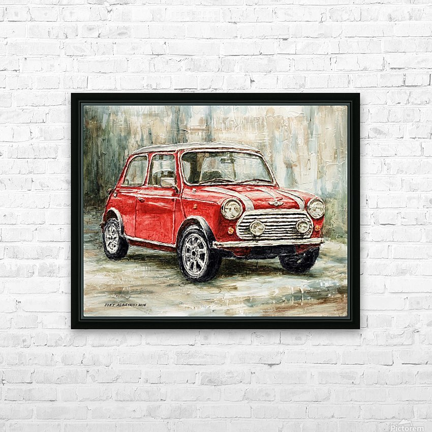 Mini Cooper S 2000 HD Sublimation Metal print with Decorating Float Frame (BOX)
