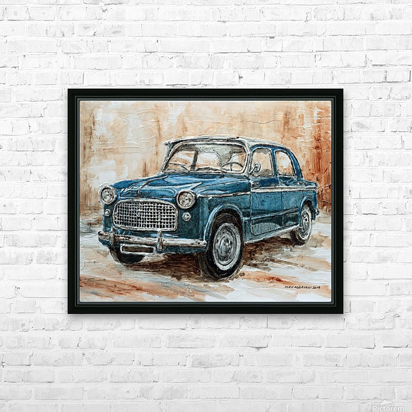 1960 Fiat 1100 103 H HD Sublimation Metal print with Decorating Float Frame (BOX)