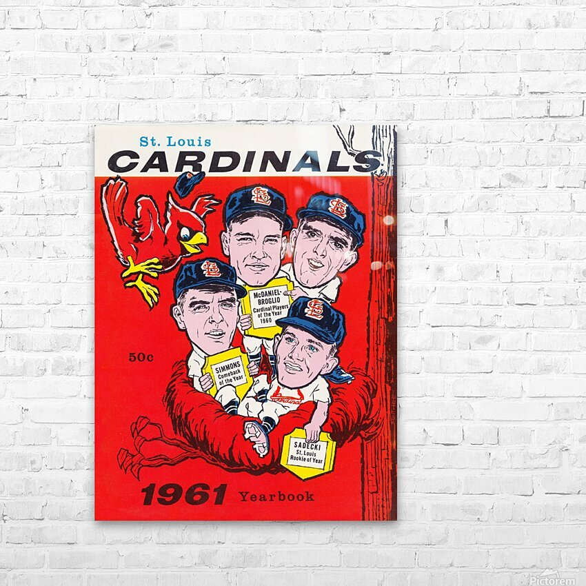 1961 St. Louis Cardinals Yearbook Poster HD Sublimation Metal print with Decorating Float Frame (BOX)