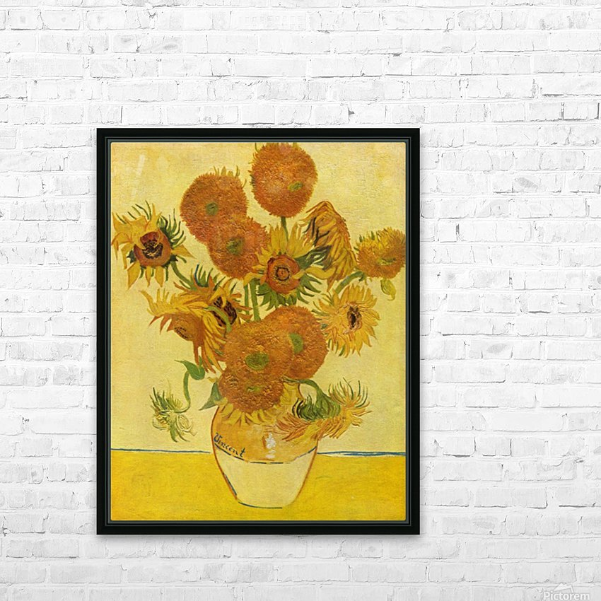 Still life with sunflowers by Van Gogh HD Sublimation Metal print with Decorating Float Frame (BOX)