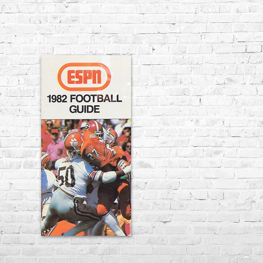 1982 ESPN College Football Guide Poster HD Sublimation Metal print with Decorating Float Frame (BOX)