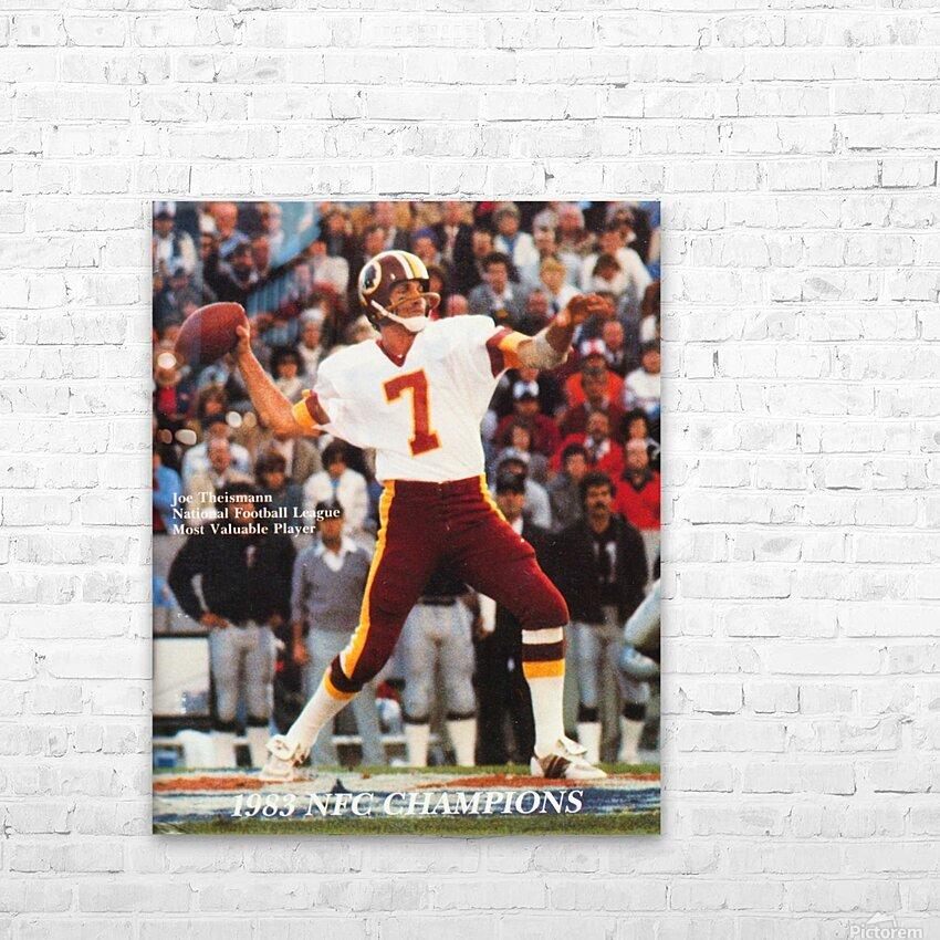 1983 Washington Joe Theismann Poster HD Sublimation Metal print with Decorating Float Frame (BOX)
