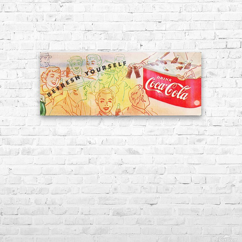 1954 Vintage Coke Ad HD Sublimation Metal print with Decorating Float Frame (BOX)