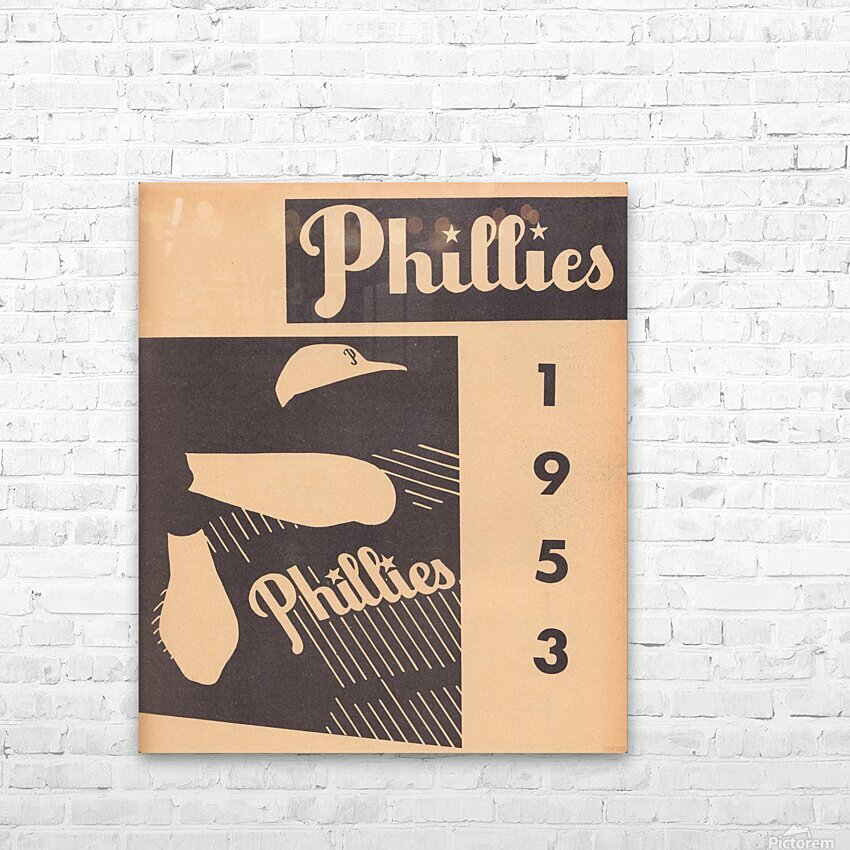 1953 Vintage Phillies Art Print HD Sublimation Metal print with Decorating Float Frame (BOX)