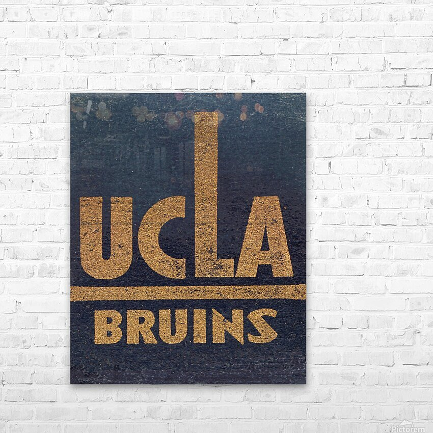 Vintage UCLA Bruins Art HD Sublimation Metal print with Decorating Float Frame (BOX)