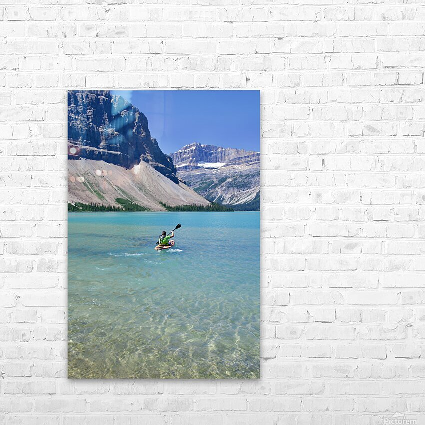 Kayaking HD Sublimation Metal print with Decorating Float Frame (BOX)