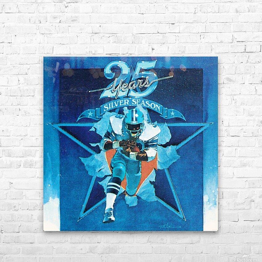 1984 Dallas Cowboys Silver Season Art HD Sublimation Metal print with Decorating Float Frame (BOX)