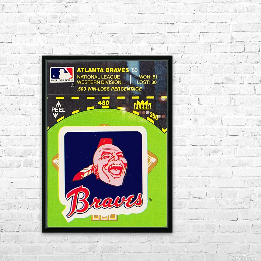 1981 Atlanta Braves Fleer Decal Poster HD Sublimation Metal print with Decorating Float Frame (BOX)