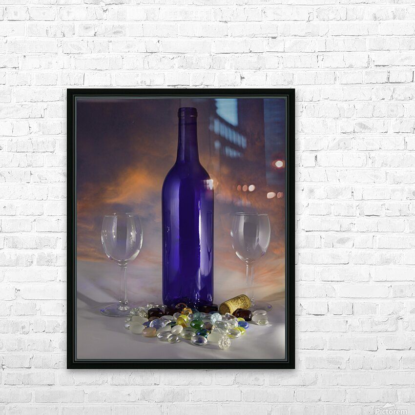 Sunset and Wine HD Sublimation Metal print with Decorating Float Frame (BOX)
