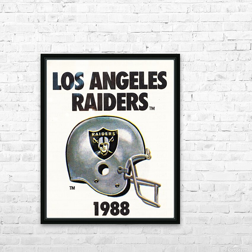 1988 Los Angeles Raiders Helmet Art HD Sublimation Metal print with Decorating Float Frame (BOX)
