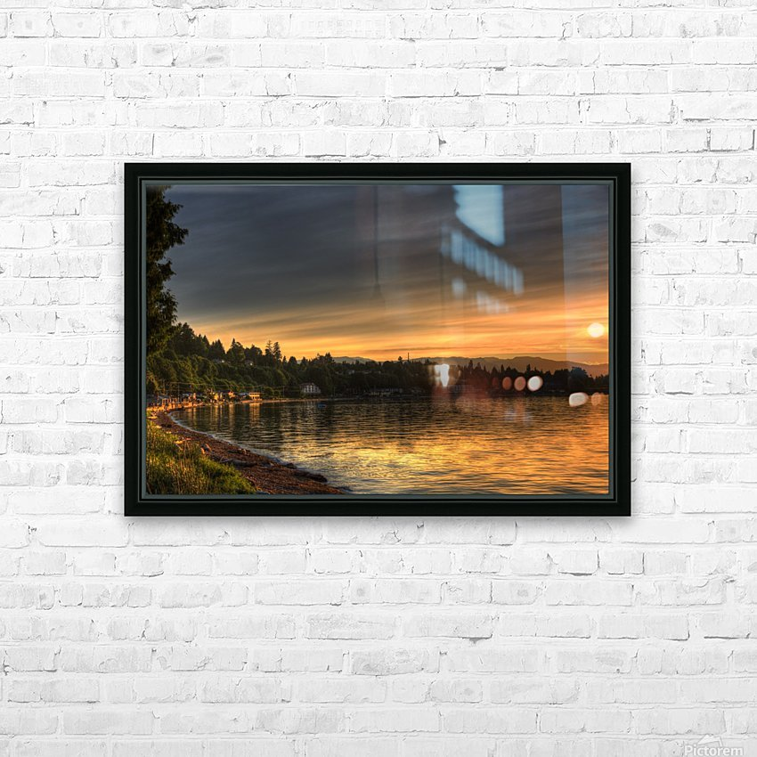 Before Sunset by Randy Hall HD Sublimation Metal print with Decorating Float Frame (BOX)