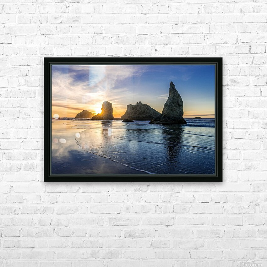Bandon Oregon 02 HD Sublimation Metal print with Decorating Float Frame (BOX)