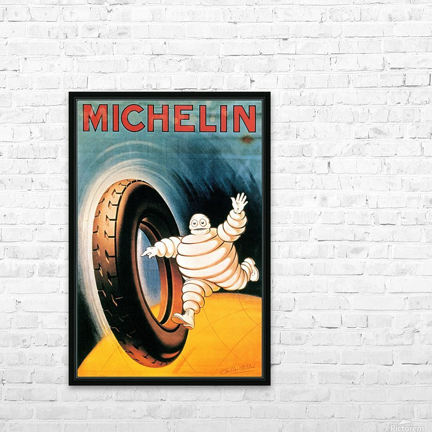 Michelin Poster HD Sublimation Metal print with Decorating Float Frame (BOX)