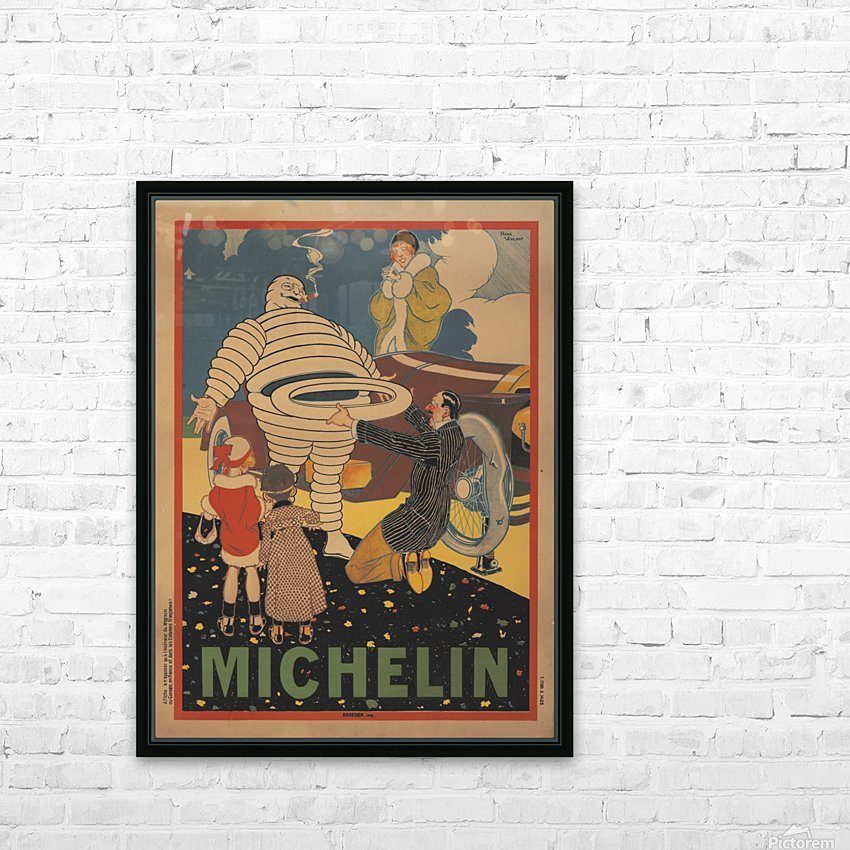 Michelin Pneu HD Sublimation Metal print with Decorating Float Frame (BOX)